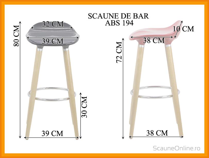 Dimensiuni Scaun de bar ABS 194