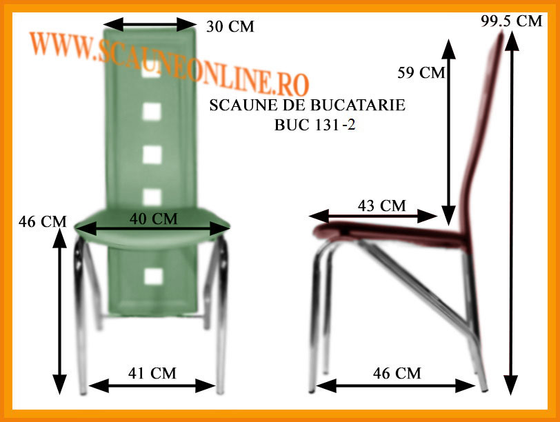 Dimensiuni scaune bucatarie BUC 131-2