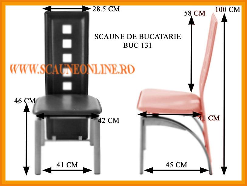 Dimensiuni scaune bucatarie BUC 131