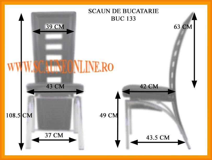 Dimensiuni scaune de bucatarie BUC 133