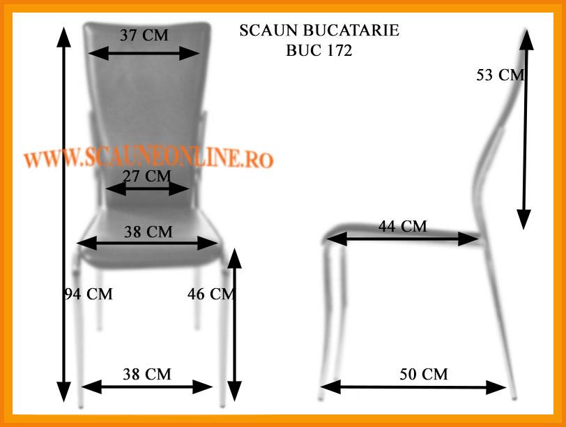 Dimensiuni scaune living BUC 172