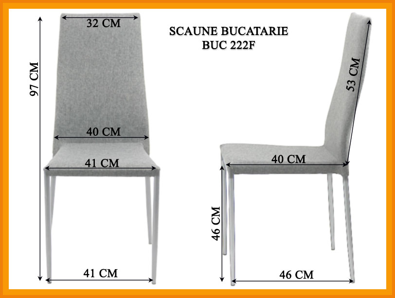 Dimensiuni Scaun bucatarie BUC 222F