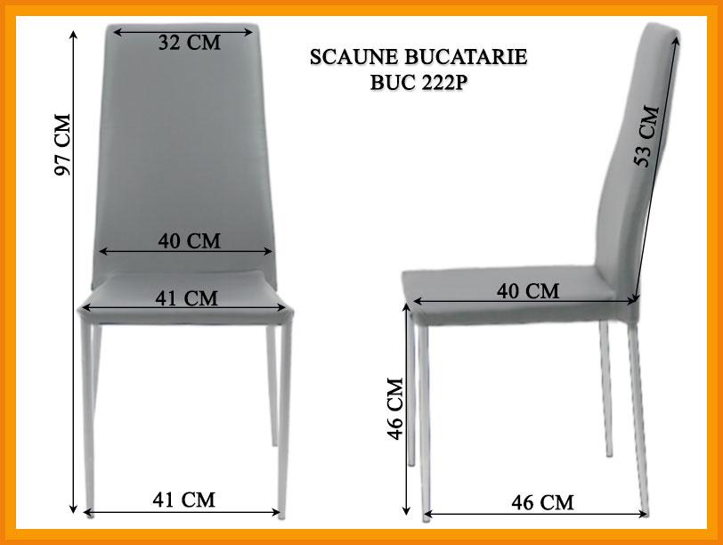 Dimensiuni Scaun bucatarie BUC 222P