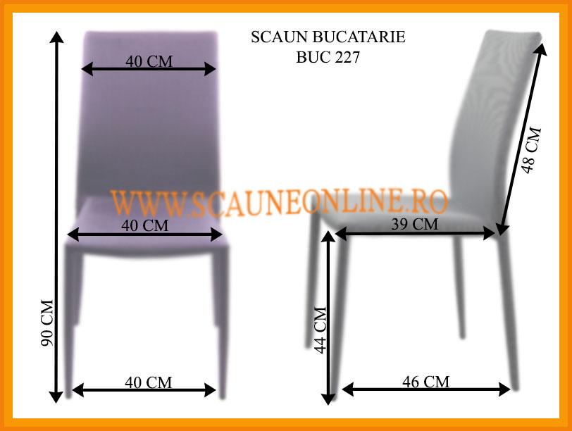 Dimensiuni scaune bucatarie BUC 227
