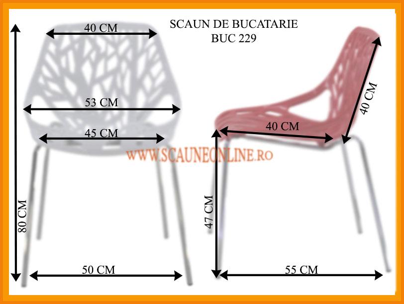 Dimensiuni scaune bucatarie BUC 229