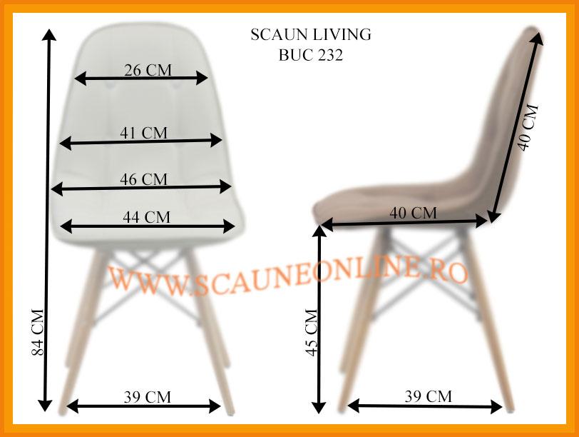Dimensiuni scaune living BUC 232