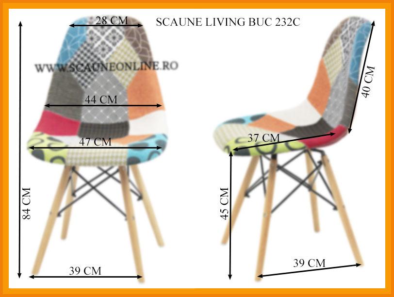 Dimensiuni Scaune living BUC 232C