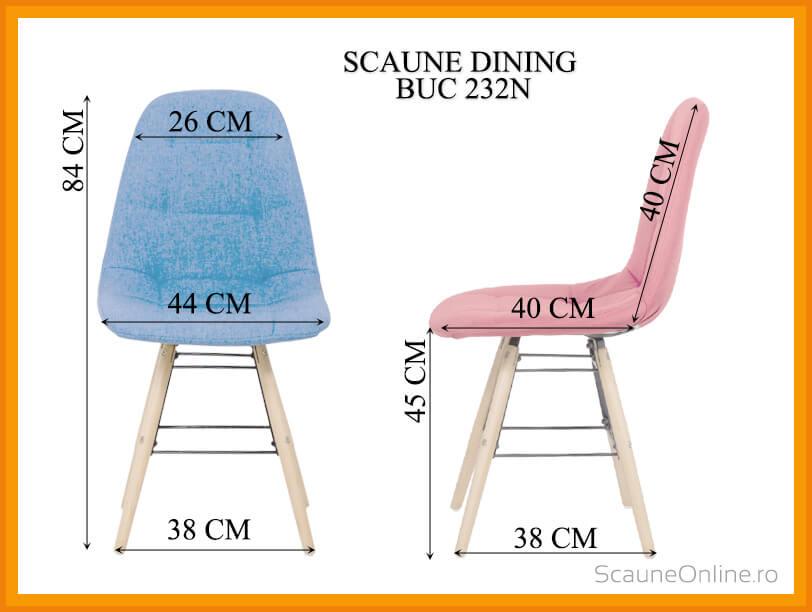 Dimensiuni Scaun dining BUC 232N