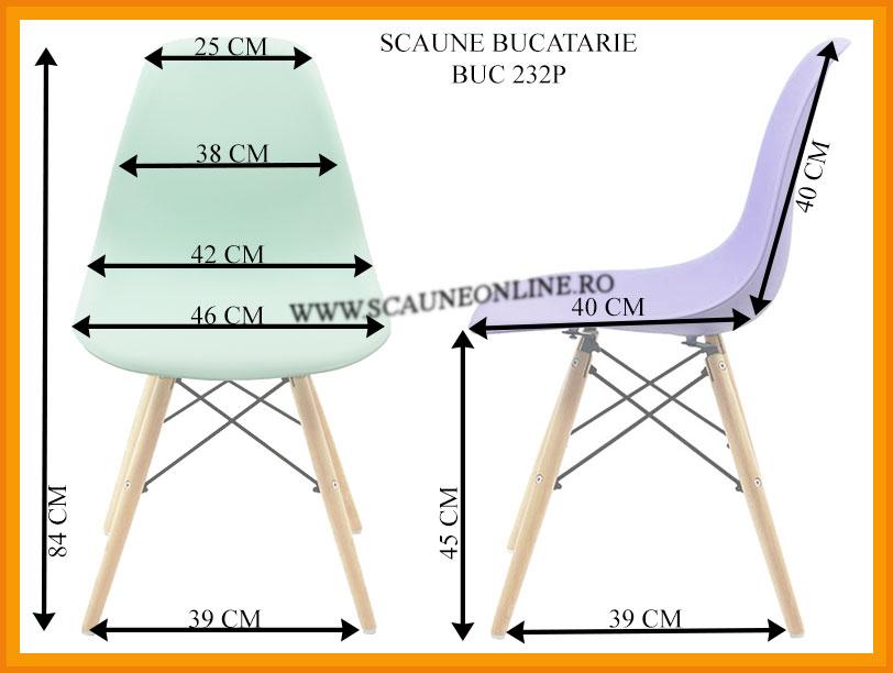 Dimensiuni Scaune bucatarie BUC 232P