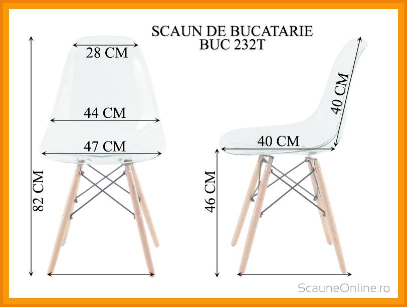 Dimensiuni Scaun de bucatarie BUC 232T