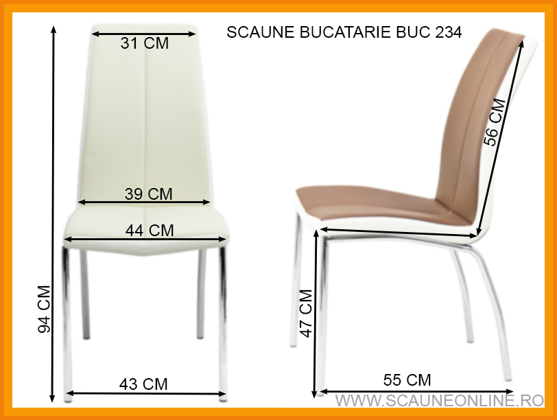 Dimensiuni Scaune bucatarie BUC 234