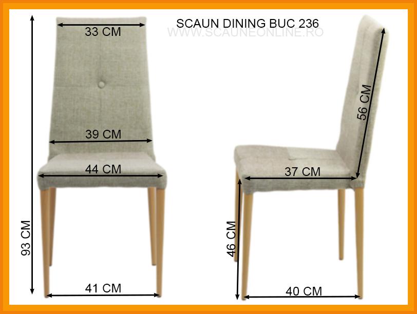 Dimensiuni Scaun dining BUC 236