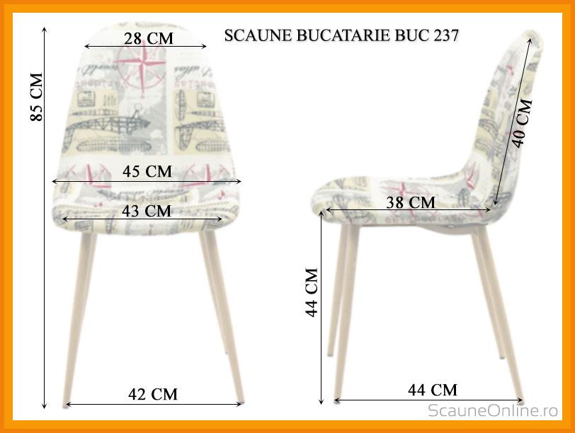 Dimensiuni Scaune bucatarie BUC 237