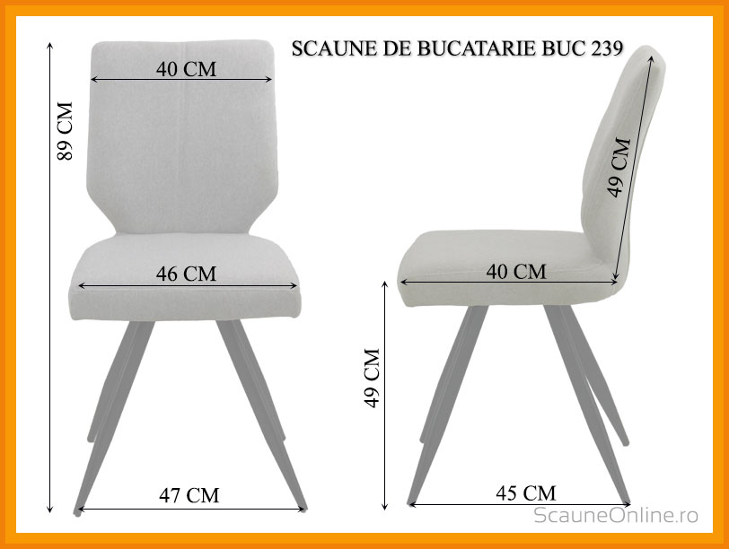 Dimensiuni scaun bucatarie BUC 239