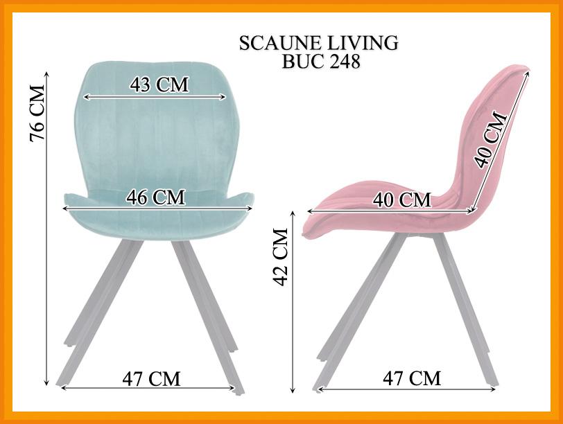 Dimensiuni Scaun living BUC 248