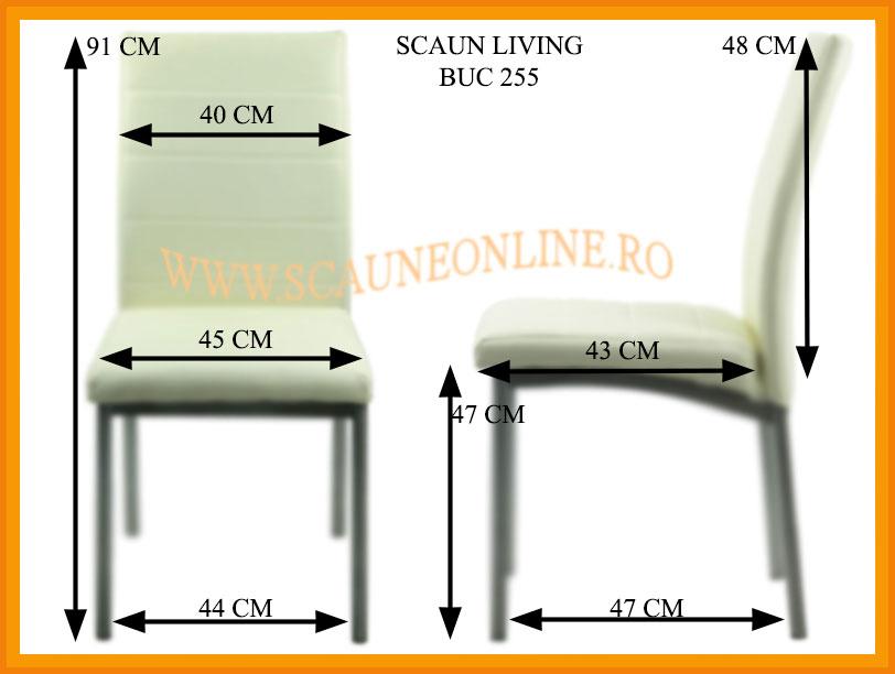 Dimensiuni scaune de bucatarie BUC 255