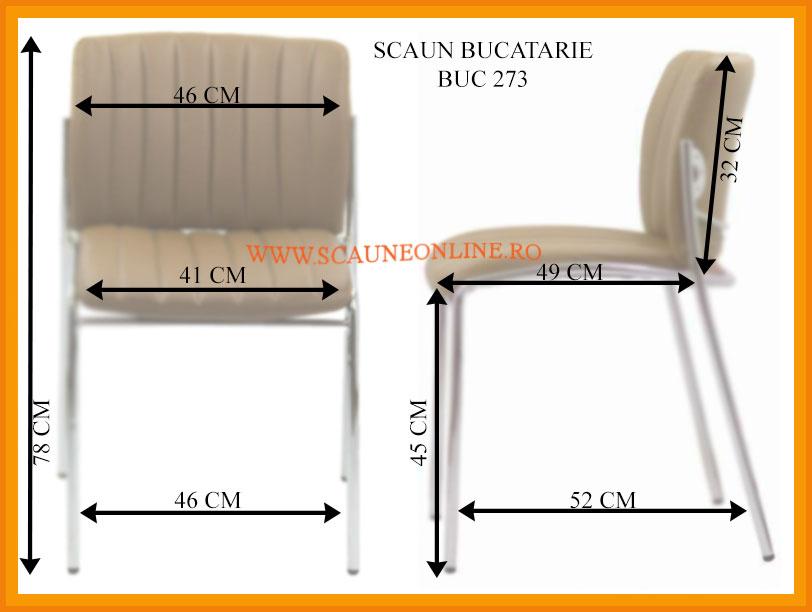 Dimensiuni Scaune bucatarie BUC 273