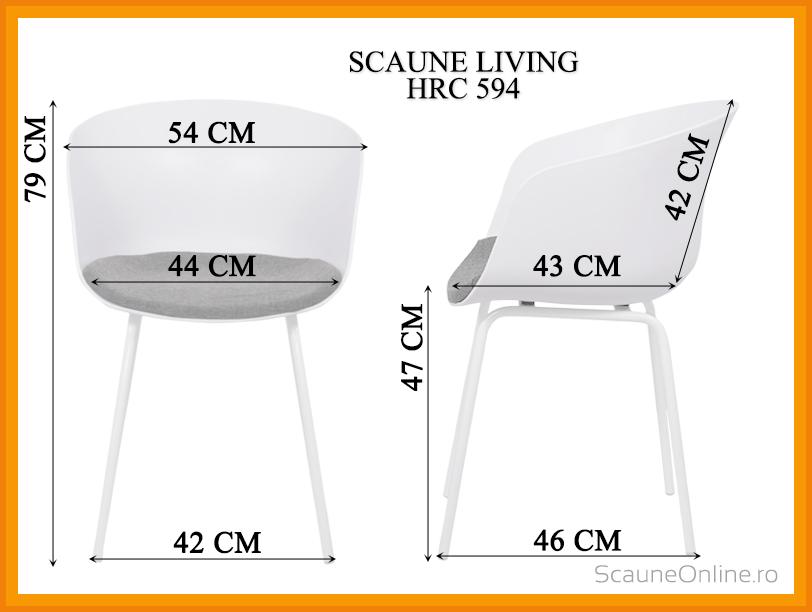 Dimensiuni Scaun living HRC 594