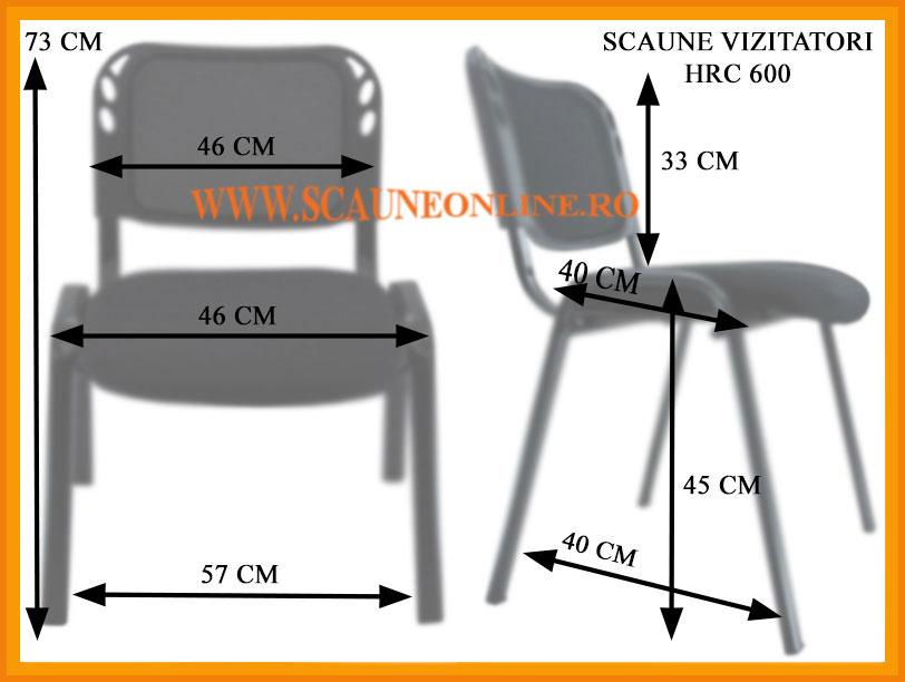 Dimensiuni scaune de conferinta HRC 600