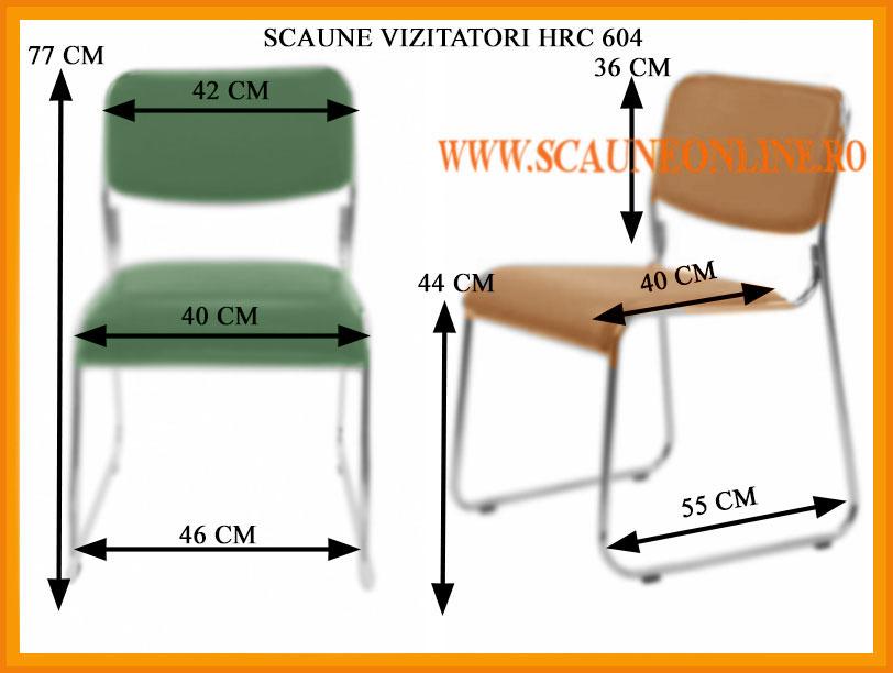 Dimensiuni scaune de conferinta HRC 604