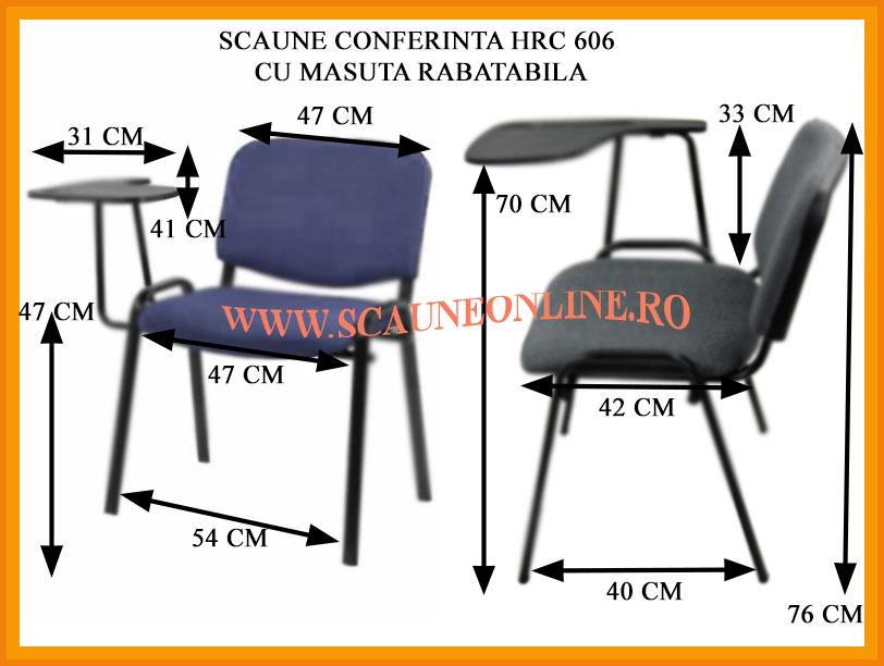Scaune conferinta cu masuta rabatabila HRC 606