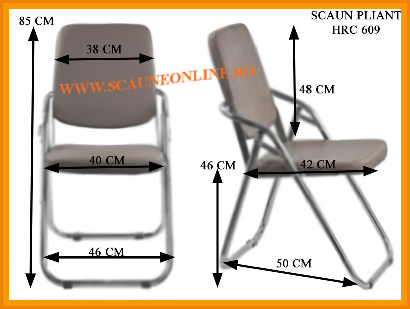 Dimensiuni scaune pliante HRC 609