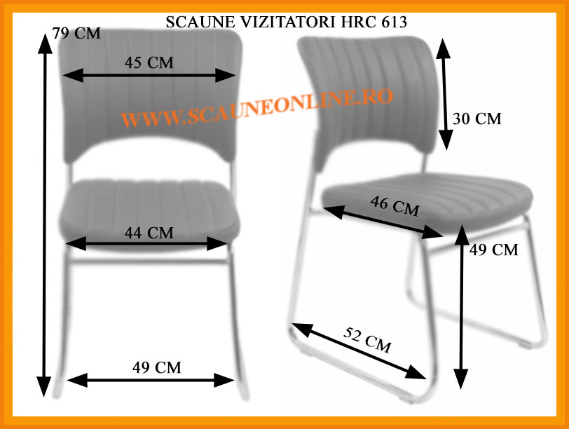 Dimensiuni scaune pentru vizitatori HRC 613