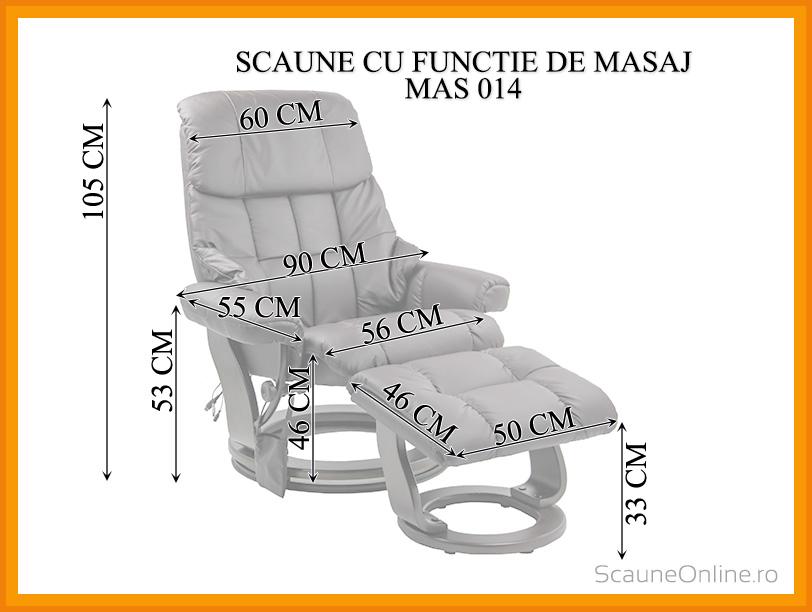 Dimensiuni Scaune cu functie de masaj MAS 014