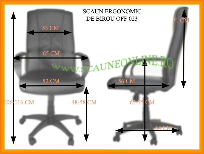Dimensiuni Scaune ergonomice de birou OFF 023