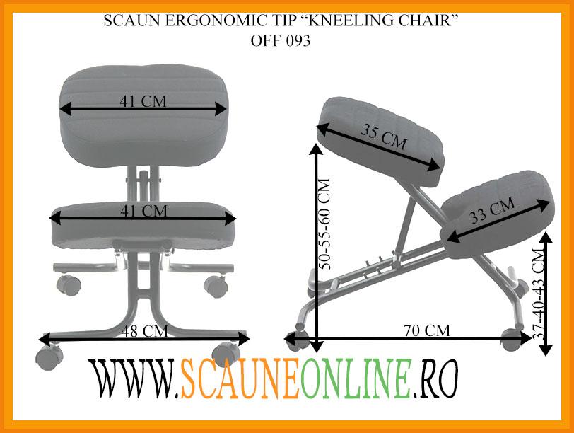 Dimensiuni Scaun ergonomic tip kneeling chair OFF093