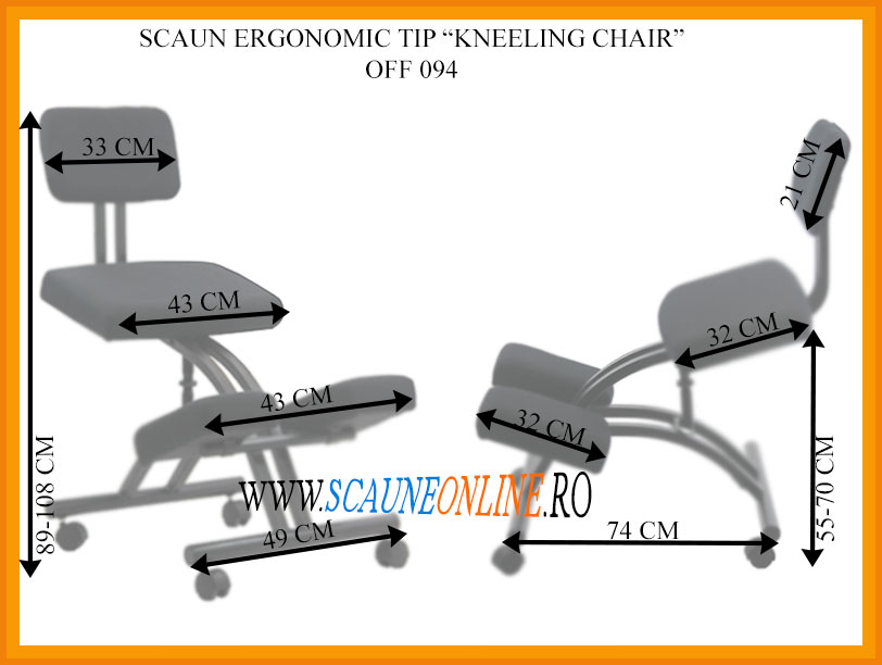 Dimensiuni Scaun ergonomic tip kneeling chair OFF 094