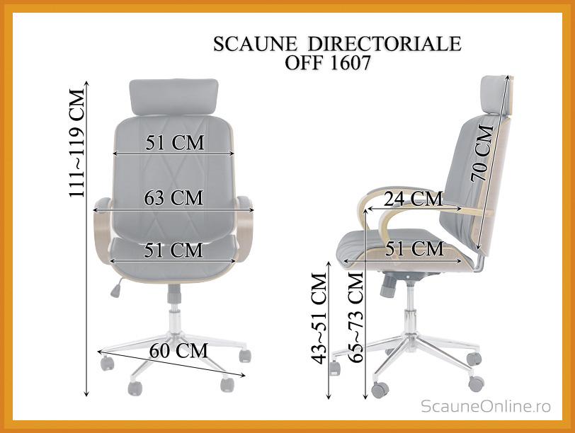 Dimensiuni Scaun directorial OFF 1607