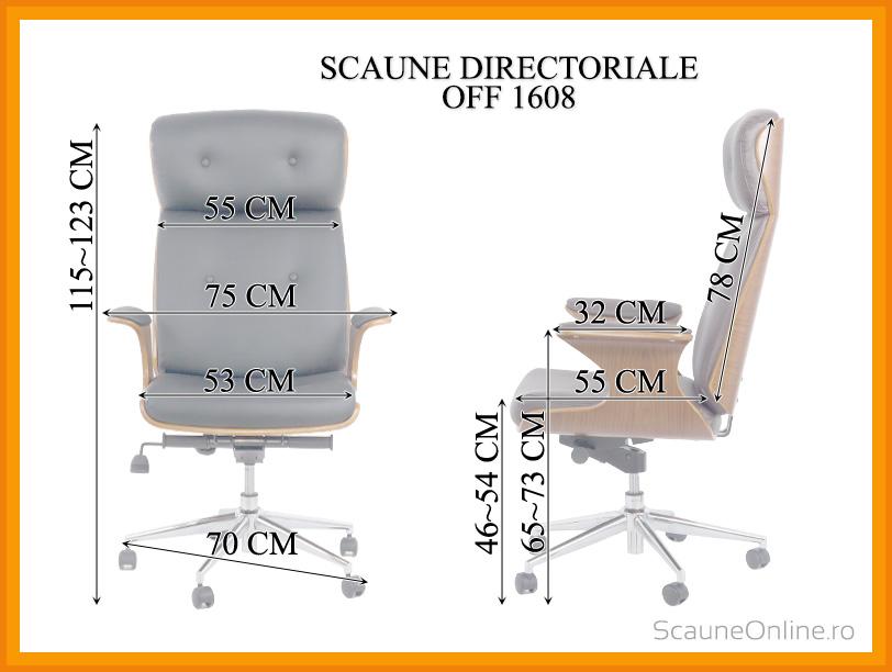 Dimensiuni Scaun directorial OFF 1608