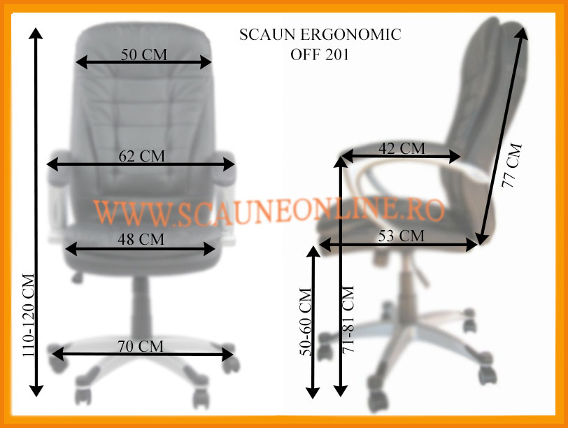 Dimensiuni scaune birou OFF 201