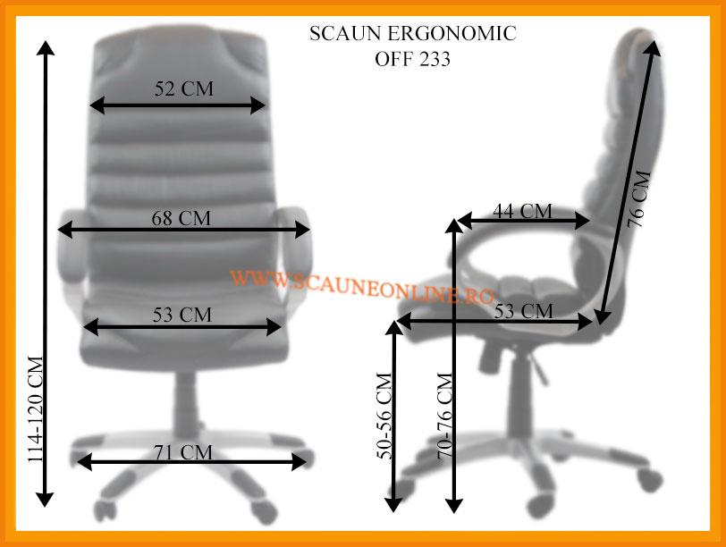 Dimensiuni Scaun ergonomic OFF 233