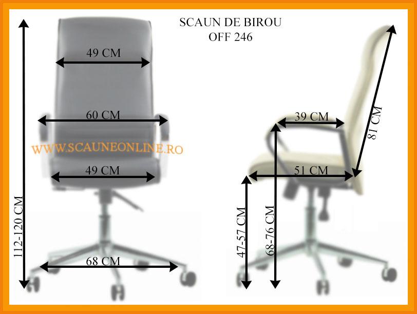 Dimensiuni Scaune directoriale OFF 246
