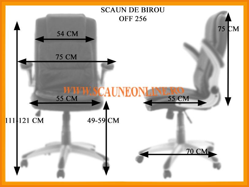 Dimensiuni Scaune birou OFF 256