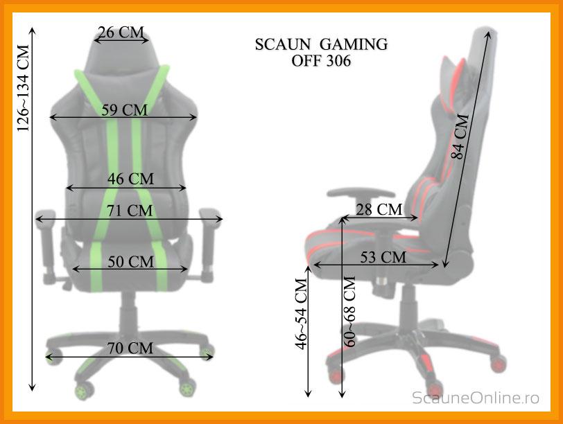 Dimensiuni Scaune gaming OFF 306