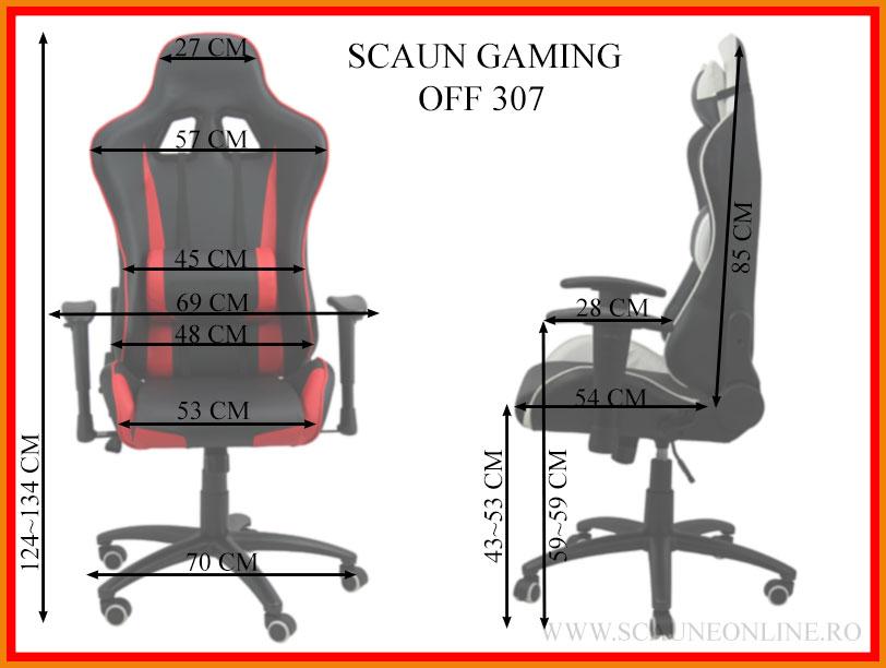 Dimensiuni Scaun gaming OFF 307