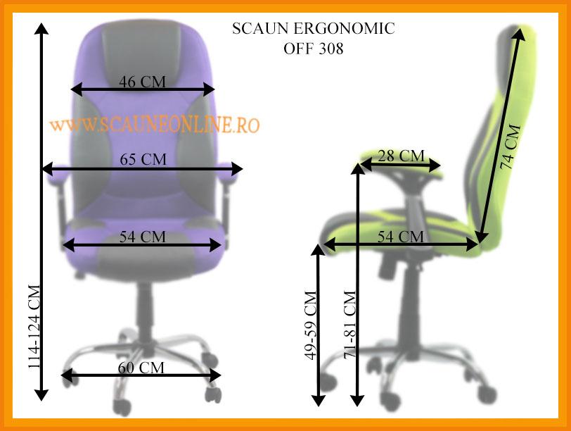 Dimensiuni Scaune ergonomice de birou OFF 308
