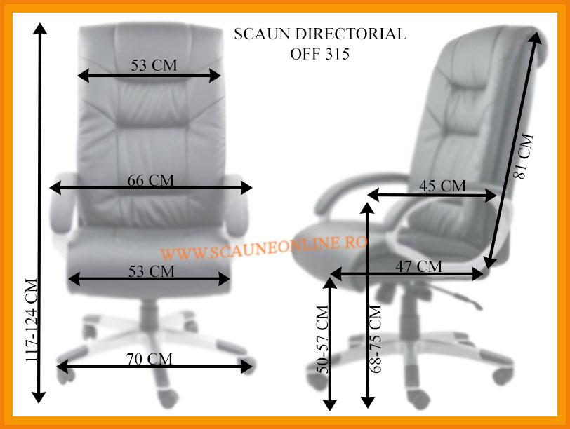 Dimensiuni Scaune directoriale OFF 315 - rezistent pana la 150 Kg