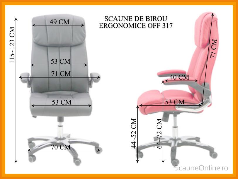 Dimensiuni scaune birou OFF 317