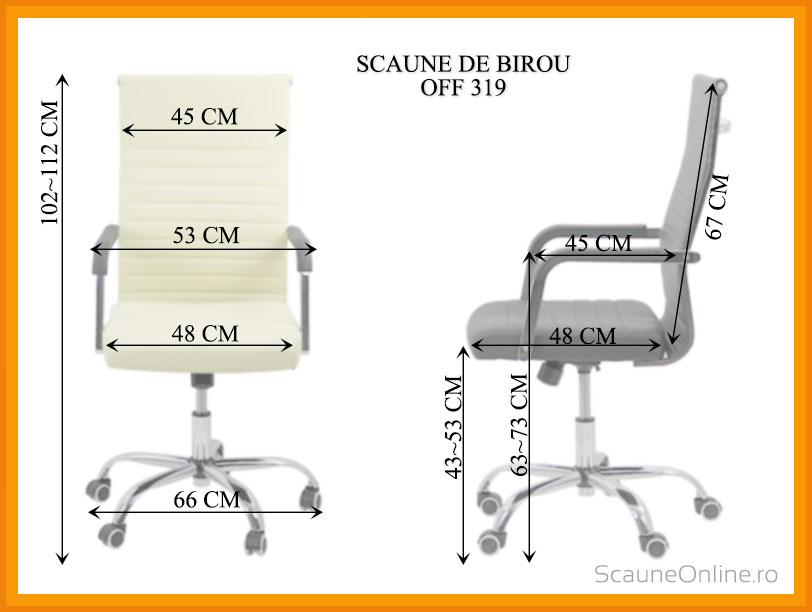Dimensiuni Scaun de birou OFF 319