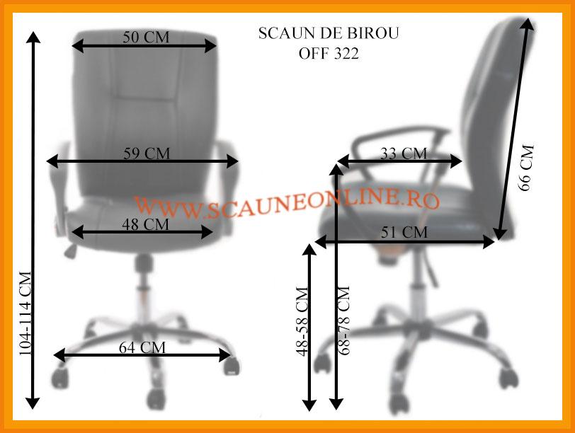 Dimensiuni scaune birou OFF 322