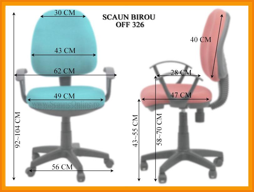 Dimensiuni Scaun de birou OFF 326