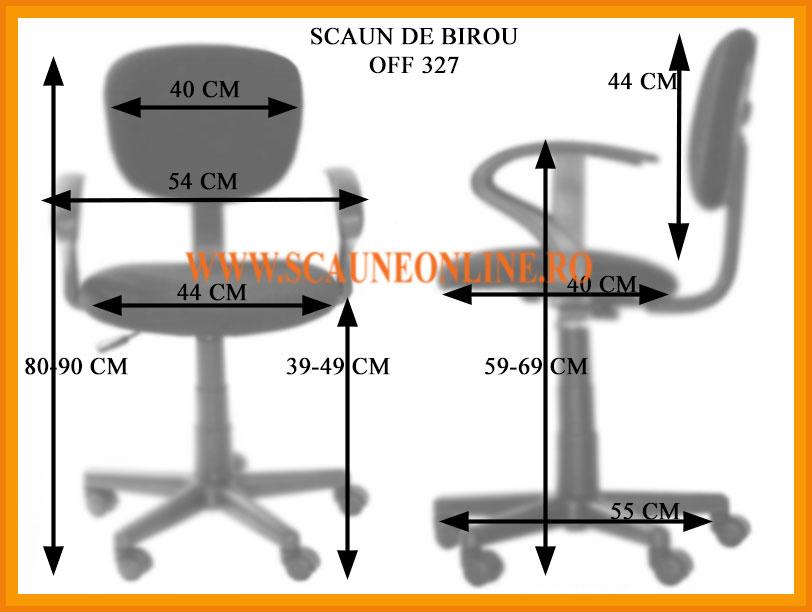 Dimensiuni Scaun de birou OFF 327