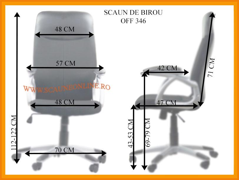 Dimensiuni Scaune de birou OFF 346