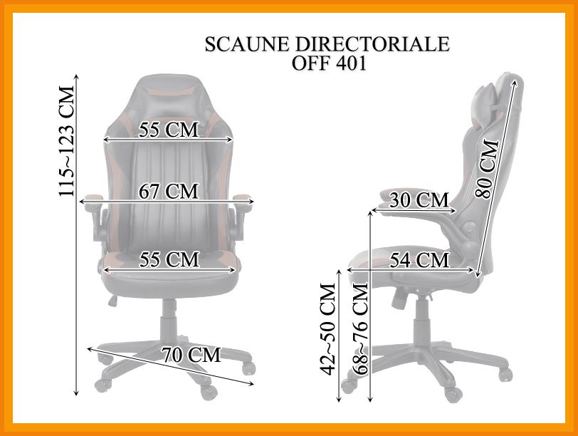 Dimensiuni Scaun directorial OFF 401