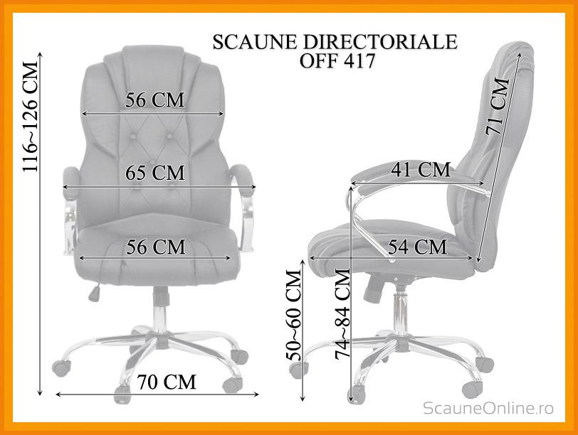 Dimensiuni Scaun directorial OFF 4176
