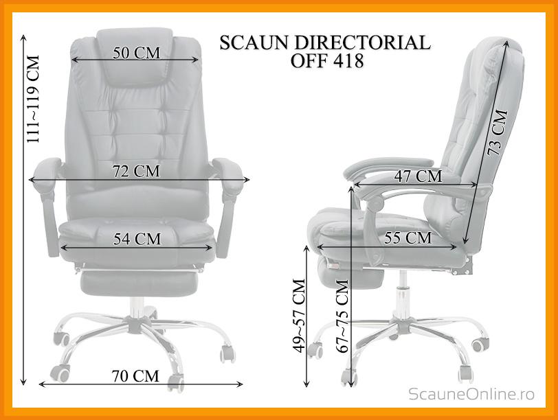 Dimensiuni Scaun directorial OFF 418
